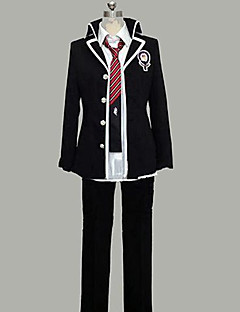 Inspired by Blue Exorcist Rin Okumura Anime Cosplay Costumes Cosplay Suits Patchwork Black Long Sleeve Coat / Shirt / Pants / Tie / Badge