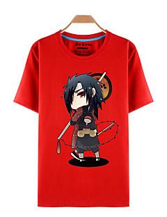Inspired by Naruto Sasuke Uchiha Anime Cosplay Costumes Cosplay T-shirt Print Red Short Sleeve Top
