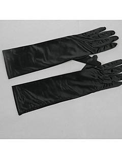 Elbow Length Fingertips Glove Satin / Elastic Satin Bridal Gloves / Party/ Evening Gloves / Winter Gloves Spring / Summer / Fall / Winter