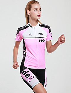 Mysenlan Cycling Jersey with Shorts Women's Short Sleeve BikeBreathable Quick Dry Ultraviolet Resistant Moisture Permeability High