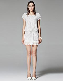 ZigZag® Damen Rundhalsausschnitt Kurze Ärmel Shirt & Bluse Weiß - 11216