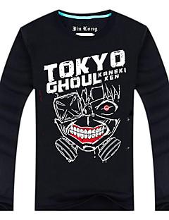 Inspirado por Tokyo Ghoul Ken Kaneki Animé Disfraces de cosplay Tops Bottoms Cosplay Estampado Negro Manga Larga Top