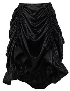 Shaperdiva Women's Gothic Steampunk Costume Vintage Multi Layered Chiffon Skirt
