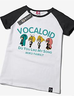 Inspiriert von Vocaloid Hatsune Miku Anime Cosplay Kostüme Cosplay-T-Shirt Druck Kurzarm T-shirt Für Unisex