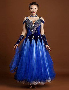 High-quality Velvet and Tulle with Beading and Rhinestones Performance Dresses for Women's Performance(More Colors)