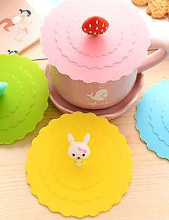 dia 11cm verschillende cartoon dier siliconen kop creatief dekking kleurenmok cap drinkware (willekeurige kleur)