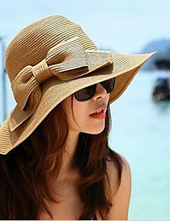 Korean Version Of The Collapsible Sun Beach Summer Straw Bow Hat