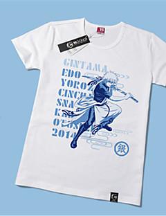 Inspirovaný Gintama Gintoki Sakata Anime Cosplay kostýmy Cosplay T-shirt Tisk Żółty Krátké rukávy Trička