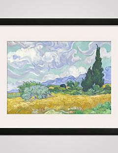 Natură moartă Faimos Peisaj Timp Liber Împrimat De Artă Înrămată Pânză Înrămată Wall Art,PVC Material cu Frame For Pagina de decorare
