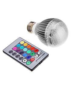 9W E26/E27 LED-pallolamput Integroitu LED 500 lm RGB Kauko-ohjattava AC 85-265 V