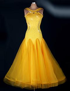 Dança de Salão Vestidos Mulheres Actuação Elastano Pano 1 Peça Vestidos S-XXL: 125