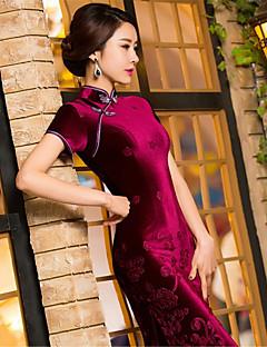 코스프레 코스츔 민족/종교적 페스티발/홀리데이 할로윈 의상 블루 레드 프린트 드레스 새해 여성 테럴린 플레우체