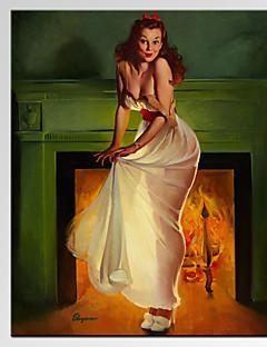 Riproduzione / Patriotico / Moderno / Romantico Print Canvas Un pannello Pronto da appendere,Verticale