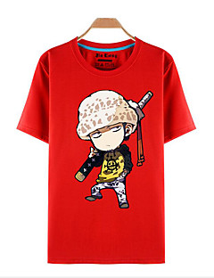 Inspired by One Piece Roronoa Zoro Anime Cosplay Costumes Cosplay T-shirt Print Red Short Sleeve Top