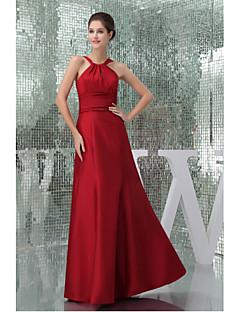 Formal Evening Dress-Ruby A-line Halter Floor-length Taffeta