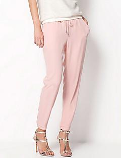 Hot Sale Brand Fashion Casual Women Chiffon Pants Elastic Waist Solid Color Office OL Pants Summer Slim Lady Pants