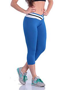 Naisten Yksiväriset Polyesteri / Spandex Leggingsit, Keskipaksu