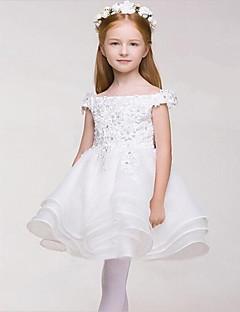 שמלה לנערת הפרחים  - נשף - קצר\מיני - ללא שרוולים - סאטן