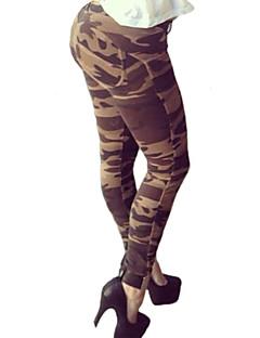 Women Solid Color / Print Legging,Cotton / Spandex Medium