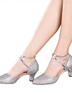 Latin-Pantofi de dans(Negru / Argintiu / Auriu / Multi-Color) -NePersonalizabili-Damă