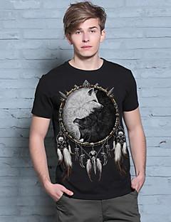 Brand Clothing Cotton T-Shirt Men Short Sleeve Fashion Style O-Neck Fitness New Arrival Fox Pattern Hip Pop T-Shirt