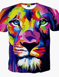 Men's Short Sleeve T-Shirt,Polyester Casual / Formal / Sport / Plus Sizes Print