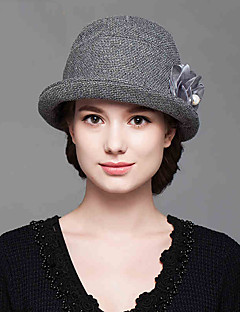 Fashion Women's Autumn And Winter Dome Bucket  Solid Ccolor Cotton Flowers Hat