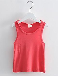 Mädchen Tank Top & Leibchen-Lässig/Alltäglich einfarbig Baumwolle Sommer Blau / Grün / Orange / Rot