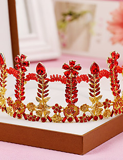 Dame Krystal / Legering Medaljon-Bryllup / Speciel Lejlighed Diademer 1 Stykke