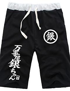 Inspirovaný Gintama Gintoki Sakata Anime Cosplay kostýmy Cosplay Topy / Bottoms Jednobarevné Czarny / Šedá Kraťasy