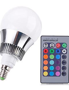 9W E14 LED-globlampor A50 Högeffekts-LED 650-1000 lm RGB Dimbar / Fjärrstyrd AC 220-240 V 1 st