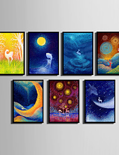 E-HOME® Framed Canvas Art, The View Of The Night Sky Series Framed Canvas Print One Pcs