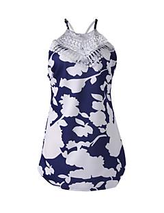Polyester-Micro-elastisch-Medium-VrouwenJumpsuits-Mouwloos