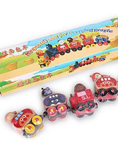 petits jouets de marionnettes de train, pain magnétique jouets modèle forme de cognition, faites glisser la voiture de jouet pour enfants