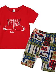 Komplet odzieży-Chłopca-Lato-Nadruk-Poliester