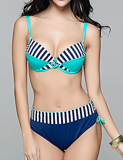 Damen Bikini - Retro / Push-Up Nylon / Elasthan Halfter