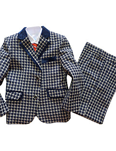Polyester / Bomuld Blanding Jakkesæt til ringbæreren - 3 Pieces Inkluderer Jakke / Vest / Bukser