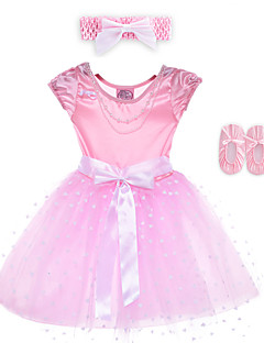 Performance Dresses Children's Performance Spandex / Polyester Bow(s) 2 Pieces Sleeveless Dress / Headpieces 60cm