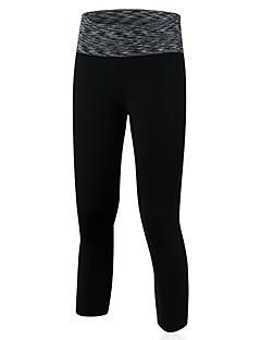Mulheres Corrida 3/4 calças justas Leggings Respirável Secagem Rápida Ioga Corrida Verde Vermelho Preto Azul Roxo
