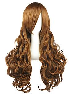 Parrucche Cosplay Hetalia Elizabeth Marrone Lungo Anime Parrucche Cosplay 90 CM Tessuno resistente a calore Uomo / Donna