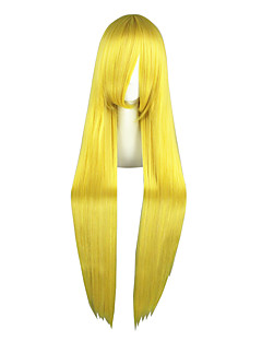 Cosplay Wigs Sailor Moon Sailor Moon Yellow Long Anime Cosplay Wigs 100 CM Heat Resistant Fiber Male / Female