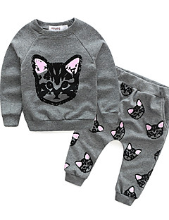 Girl's Cotton Spring/Autumn Cat Suit Children And Haroun Pants Outfit Baby Girl Clothing Two-piece Set