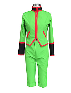 Inspired by Hunter X Hunter Gon. Freecss Anime Cosplay Costumes Cosplay Suits Solid Green Long Sleeve Top / Shorts