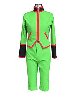 Inspirerad av Hunter X Hunter Gon. Freecss Animé Cosplay Kostymer/Dräkter cosplay Suits Enfärgat Grön Lång ärm Topp / Shorts