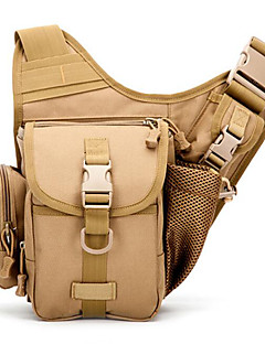 5 L Shoulder Bag Camping & Hiking Outdoor Waterproof / Shock Resistance Brown Oxford