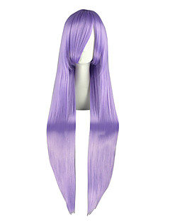 Cosplay Wigs Gintama Ayame Sarutobi Purple Long Anime Cosplay Wigs 100 CM Heat Resistant Fiber Male / Female