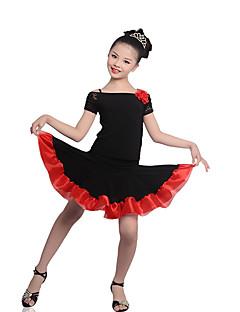 Gyermek-Latin tánc-Felszerelések(Fukszia / Piros,Krepp / Csipke / Vászon,Csipke)