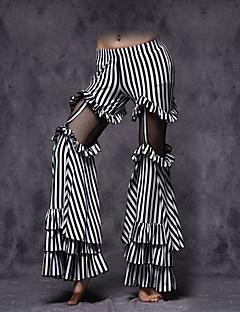 Dança do Ventre Fundos Mulheres Actuação Algodão Amarrotado 1 Peça Sem Mangas Caído Calças M:92   L :95
