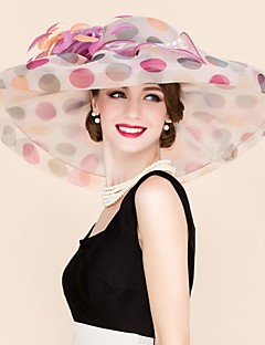 Donne Organza Copricapo-Matrimonio / Occasioni speciali / Casual Copricapo / Cappelli 1 pezzo Multicolore