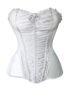 Fashion Women Boned Overbust Corselet Wedding Corset Waist Cincher